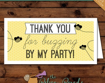Bumblebee Party Printable Favor Tags -- Instant Download