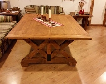 Rustic wooden table - display unit, made to order