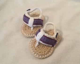 Crocheted baby flip flops newborn
