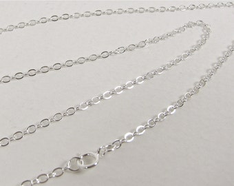 """Delicate 24"""" Sterling Silver Cable Chain - Necklace"""