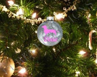 Daschund Glitter Ornament