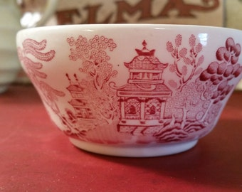 Porcelain bowl, Asian Patterned finger Bowl, made in England