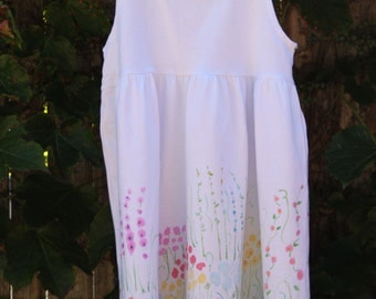 Hand Painted Baby Girl Floral Dresses
