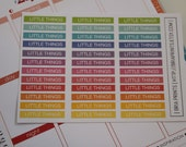 Little Things - Header Stickers | Set of 36 | Perfect for Erin Condren Planners