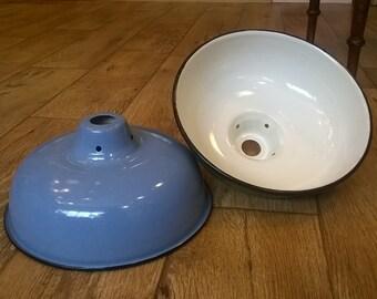 Enamel Lamp Shade - Blue
