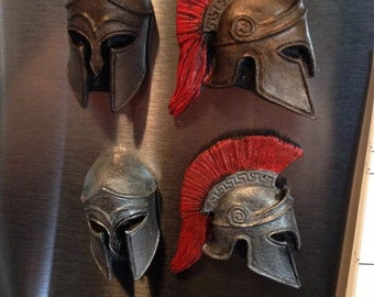 Spartan Helmet Magnet Set