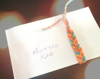 Sunset Fire - Asymmetrical Friendship Bracelet