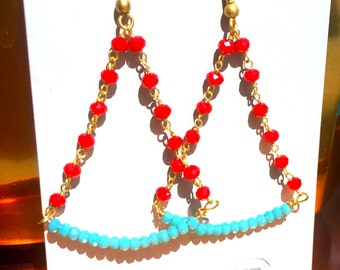 HANDMADE trapeze earrings