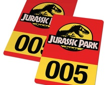 Customizable Jurassic Park Vehicle Badge Card - Top Quality, Free Delivery, Fast Service, The Lost World