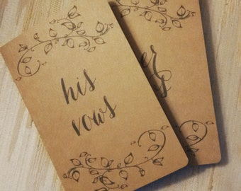 His / Hers Vow Cards - Kraft