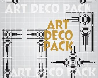 Art Deco Gatsby Style Clip Art Pack