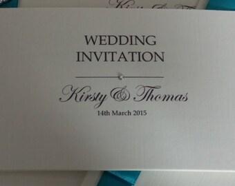 Diamante Chequebook Wedding Invitations