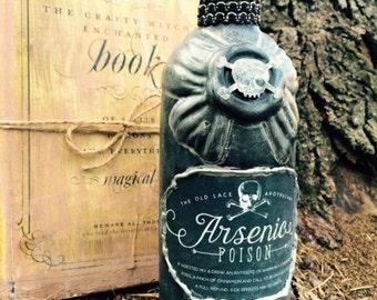 Apothecary Spell Bottle - Arsenic, Halloween Prop
