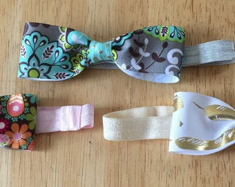 Little lady headband bows