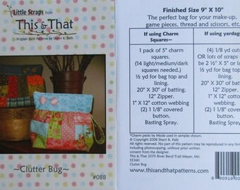 """This & That Quilt Pattern ~ """"Clutter Bug"""" #088"""