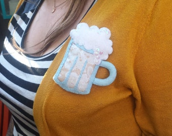 Pastel Beer Mug Brooch