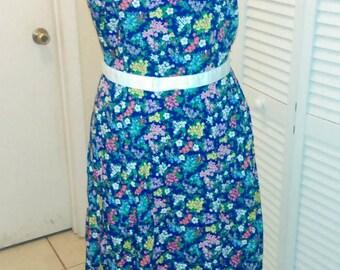Vintage Liz Claiborne floral Jumper Dress