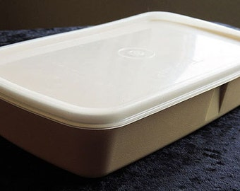 Vintage Tupperware 1970's Removable Divided Storage Container