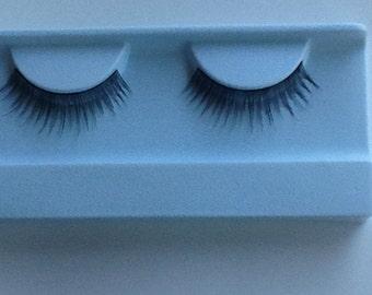 Human hair false eyelashes #1 Black
