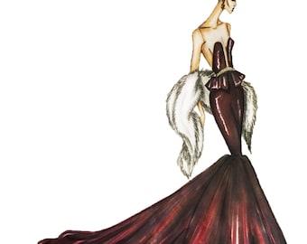 Glam Fashion illustration