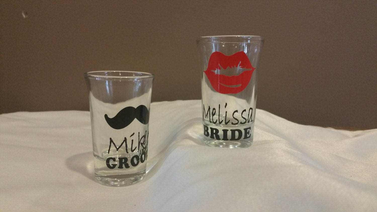 sale personalized shot glasses wedding mr mrs bride