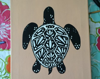 Decorative Turtle Painting