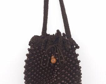 Handmade Crochet Beaded Mini Purse