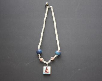 Hand-Crafted Buddha Hemp Necklace