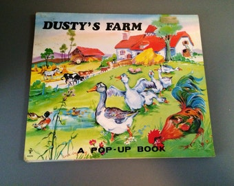Vintage Dusty's Farm Pop-Up Book Luce Lagarde Illustrated