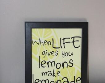Lemons Quote/Digital Print