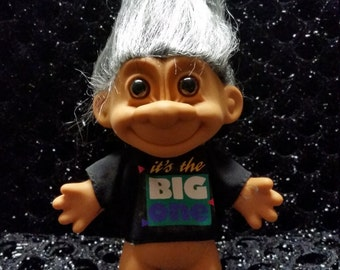 "Vintage Russ It's the Big One Troll Doll. UNOPENED! 5"" height"