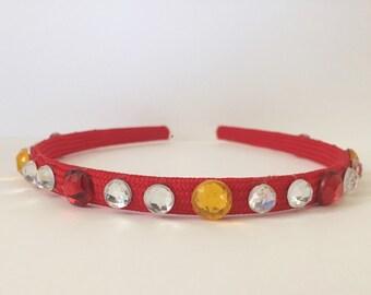 "Fight On! Cardinal and Gold Hard Headband - ""USC Trojans"""