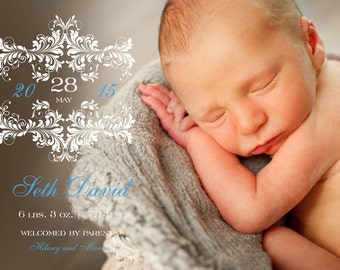 Addyson Birth Announcement (Boy)