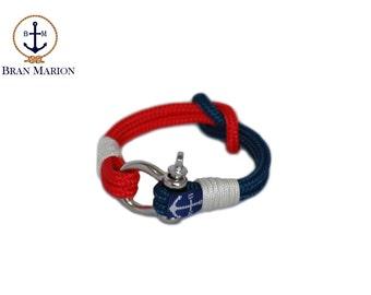 Reef Knot Nautical Rope Bracelet , Unisex Bracelet ,Sailor Bracelet ,Shackle Bracelet , Surfer Bracelet , Free Shipping Worldwide
