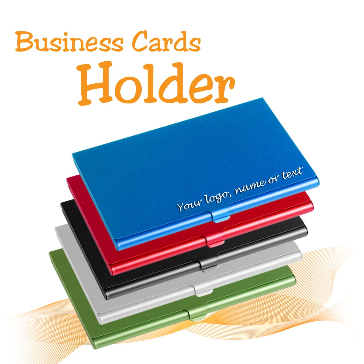 Aluminum Personalised Business Card Holder free laser
