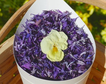 Real Flower Petal Confetti:  All Natural, Purple, Eco-Friendly, Biodegradable, Real Flower Petal Wedding Confetti, Enough for 10 People.