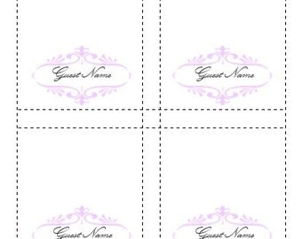 Place Card Template Lavender