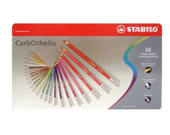 60 Stabilo Colored Pencils | Chalk Pastel Coloring & Blending Pencils, Gifts For Artists | Carb-Othello Color Pencil Set