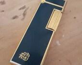 Rare Vintage Colibri Lighter John Sterling Special Edition Green Gold Circa 1970