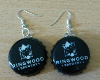 Ringwood Brewery Bottle Cap Earrings