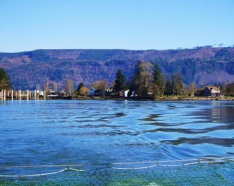 Desktop Background Photo - Ferry Ride, View of Water, Columbia River, Washington State