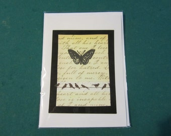 beautiful handmade greeting card with butterfly