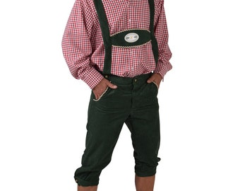 "Oktoberfest Lederhosen - Green  - 28-44"" waist"