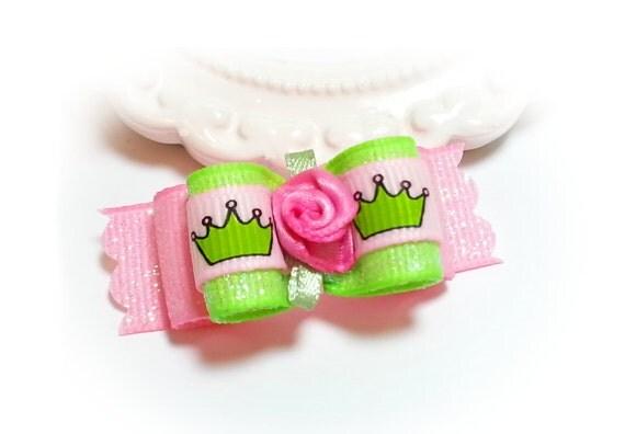 Dog Bow, Princess Crown Dog Bow