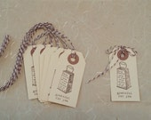 Manilla Tags Grateful For You Thank You / Food Grater /  Gift Packaging Party Favors - Hand stamped / Envelope Option