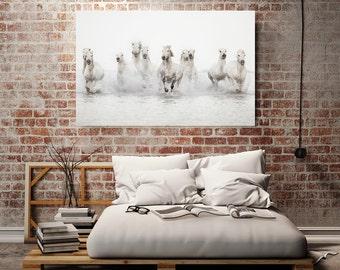 "Horse Art on Canvas, Large Canvas Art, Nature Photography Wall Decor, Fine Art Canvas Print, Large Art, Oversized Art ""The Power of 10"""