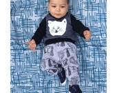 UNISEX kitty print childrens sweatshirt Supayana last one 3T
