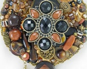 HALF OFF SALE! - Hand Mirror - Moroccan Mood - Repurposed Jewelry - M001056
