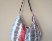 Canvas Hobo Bag, Hobo Shoulder Purse, Cotton Fabric Purse, Large Hobo Bag, Zipper Hobo Bag, Zipper Shoulder Bag, Large Shoulder Bag