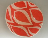 Ceramic bowl/ coral mod pattern   READY TO SHIP